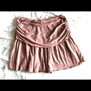 Urban Outfitters Lux ruched fold-over mini skirt